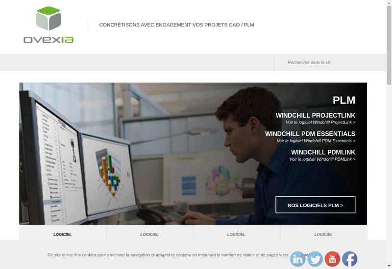 Capture d'écran du site de Ovexia