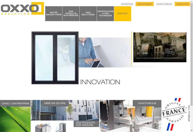 Capture d'écran du site de OXXO