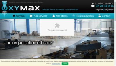 Site internet de Oxymax