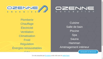 Site internet de Ozenne Conception