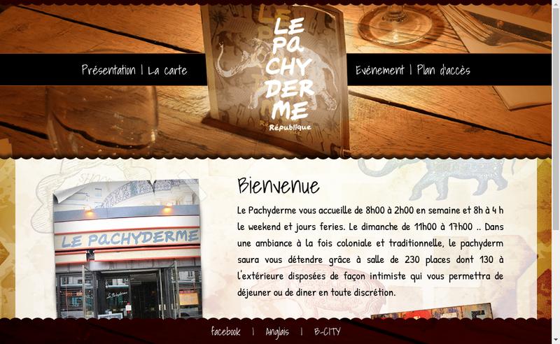 Capture d'écran du site de Le Pachyderme