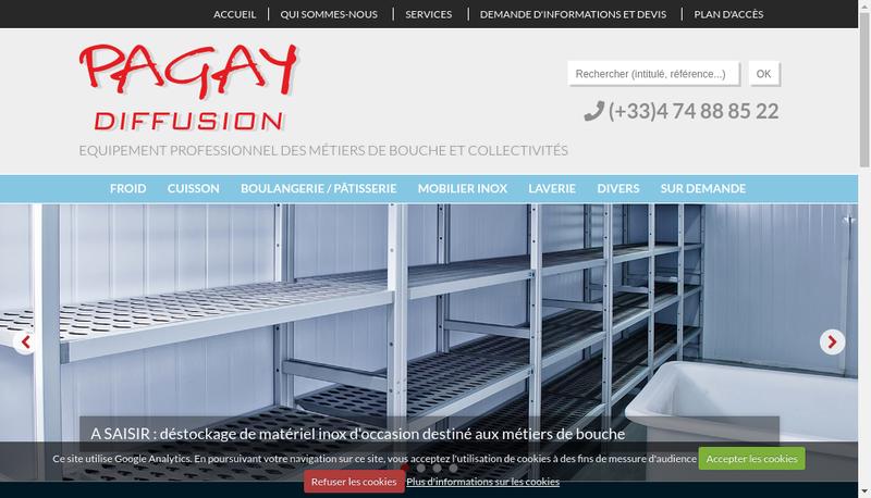 Capture d'écran du site de Pagay-Diffusion