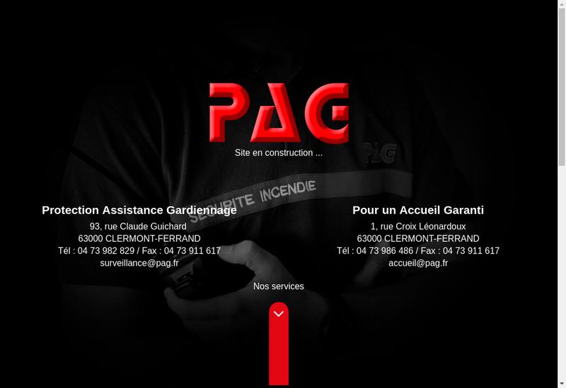Capture d'écran du site de Pag Surveillance