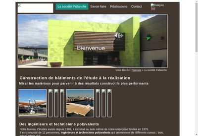Site internet de Pallanche Constructions