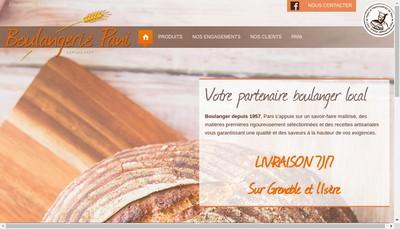 Site internet de Boulangerie Pani