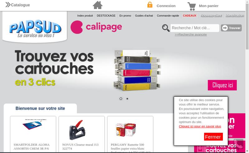Capture d'écran du site de Papsud