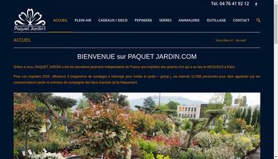 Site internet de Paquet Jardin
