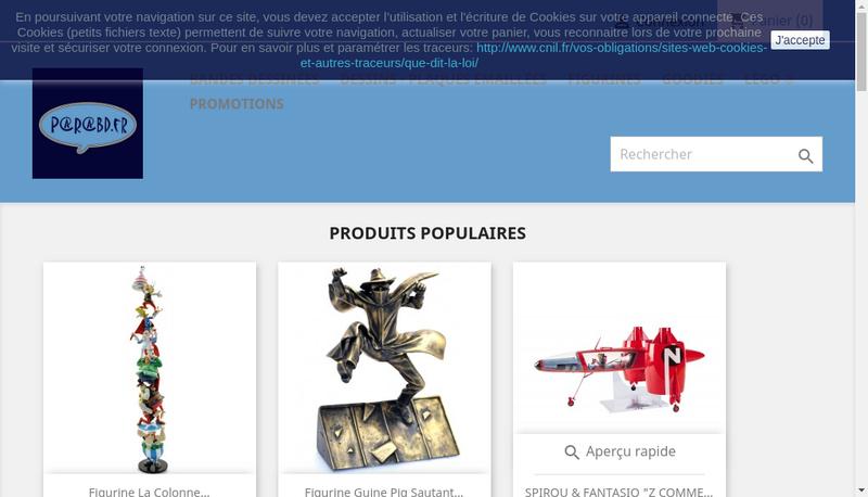 Capture d'écran du site de Quentin Biasotto