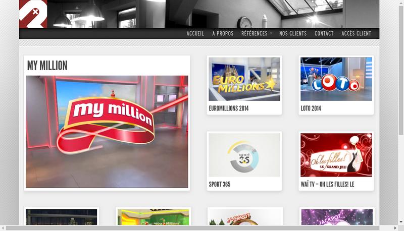 Capture d'écran du site de Parallaxes