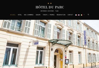 Capture d'écran du site de Hotel Restaurant du Parc