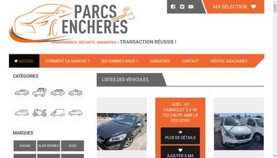 Site internet de Parcs Encheres