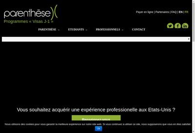 Site internet de Parenthese