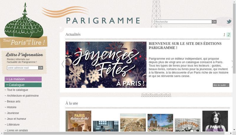 Capture d'écran du site de Compagnie Parisienne du Livre