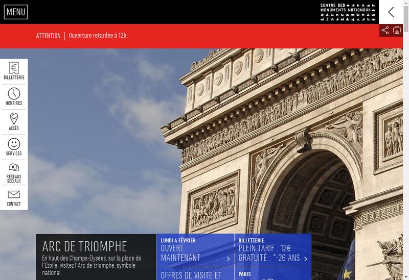 Capture d'écran du site de Comptoir de l'Arc
