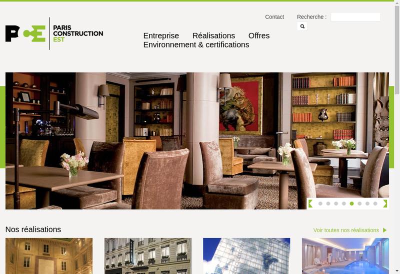Capture d'écran du site de Kc Construction France