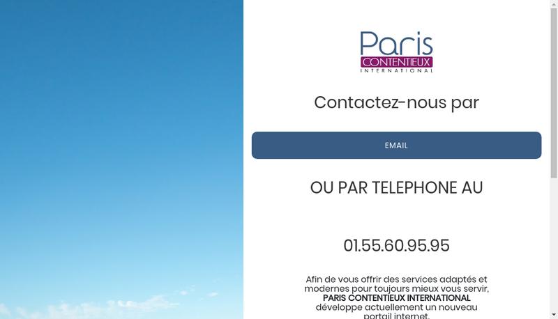 Capture d'écran du site de Paris Contentieux