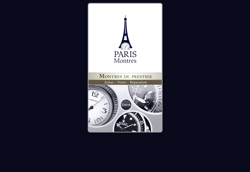 Capture d'écran du site de Paris Montres