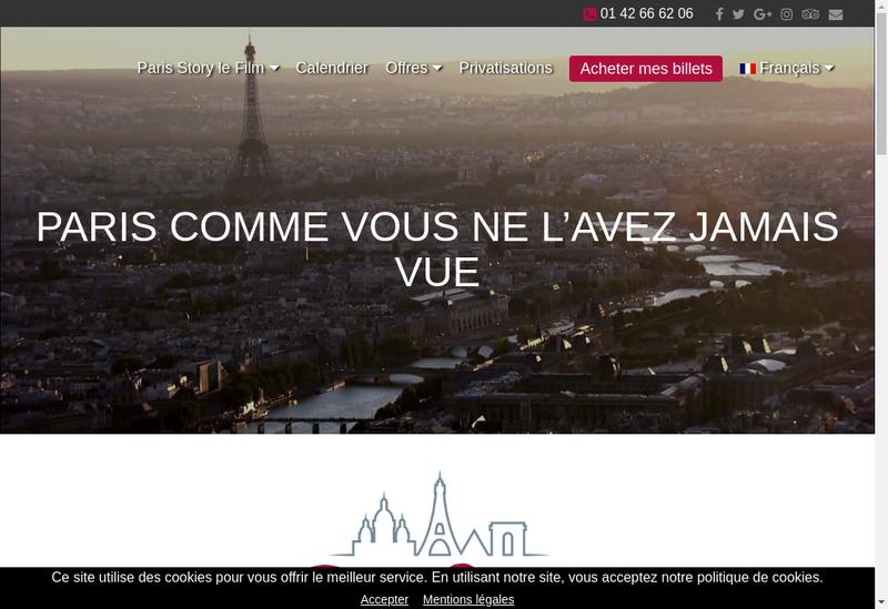 Capture d'écran du site de Paristoric