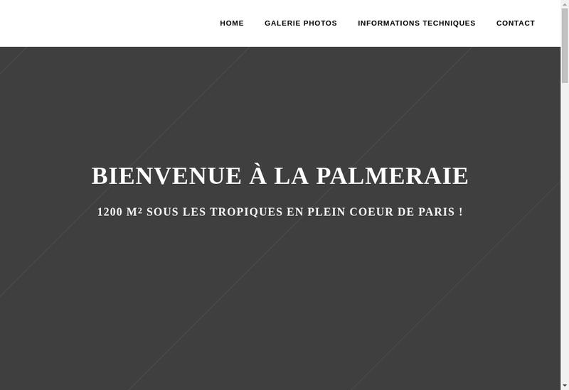 Capture d'écran du site de Equinoxe/L'Ile aux Perroquets/La Palme