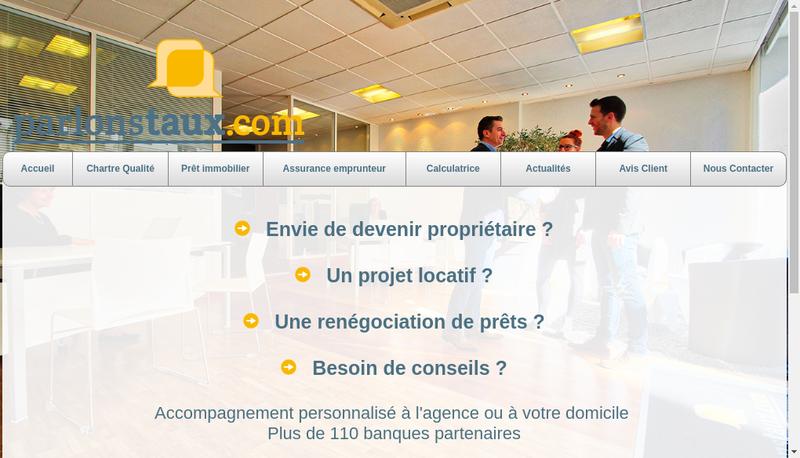 Capture d'écran du site de Parlonstaux.com
