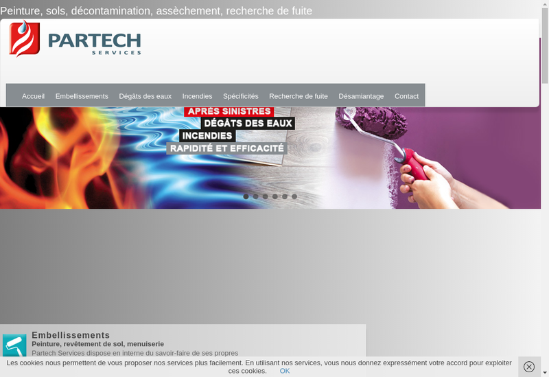 Capture d'écran du site de Partech