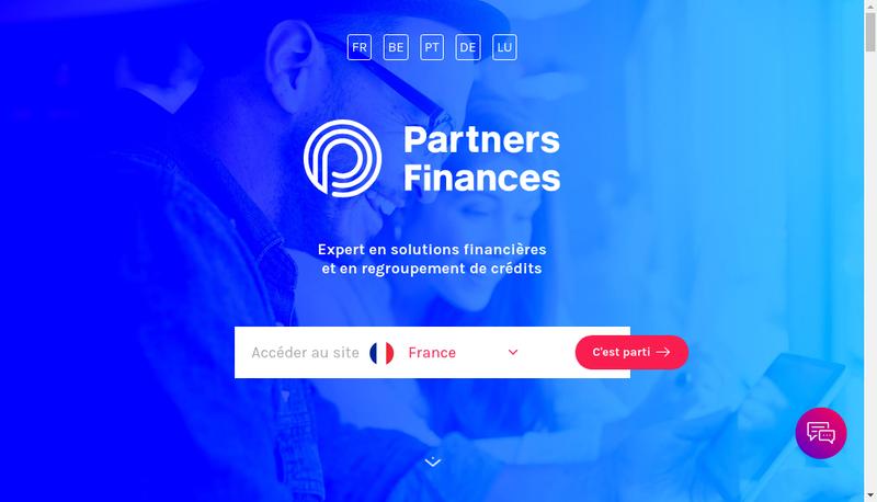 Capture d'écran du site de Partners Finances