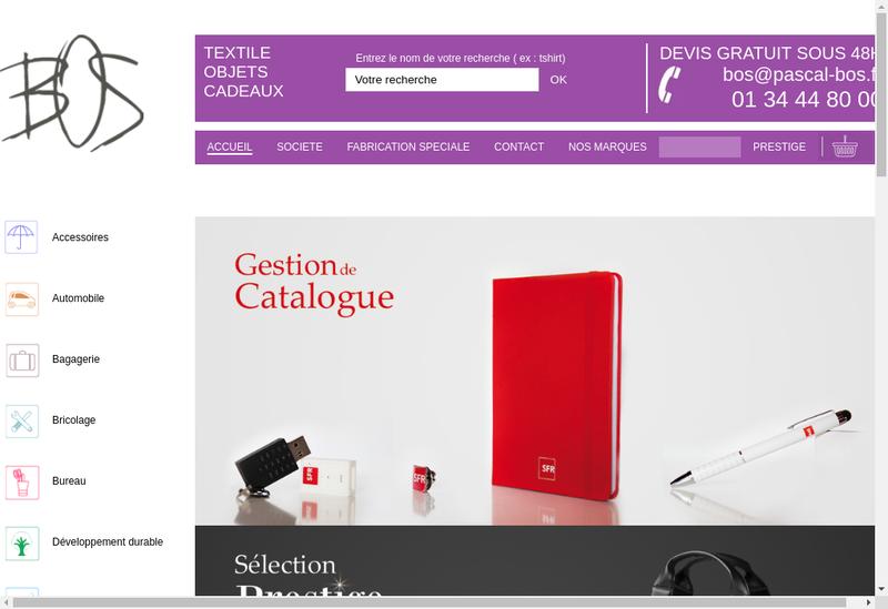 Capture d'écran du site de SARL Pascal Bos