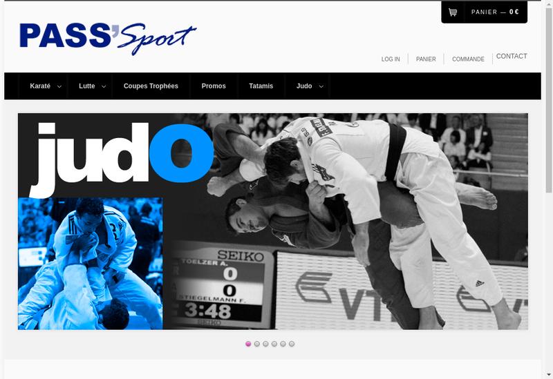 Capture d'écran du site de Pass Sports