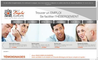 Site internet de Pass Emploi Europe