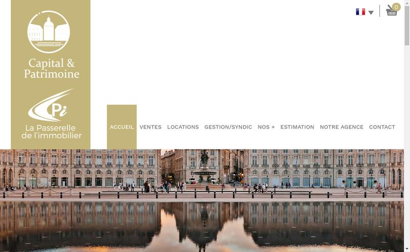 Capture d'écran du site de Capital et Patrimoine la Passerelle de l'Immobilier