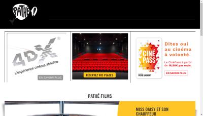 Capture d'écran du site de Gaumont Chessy