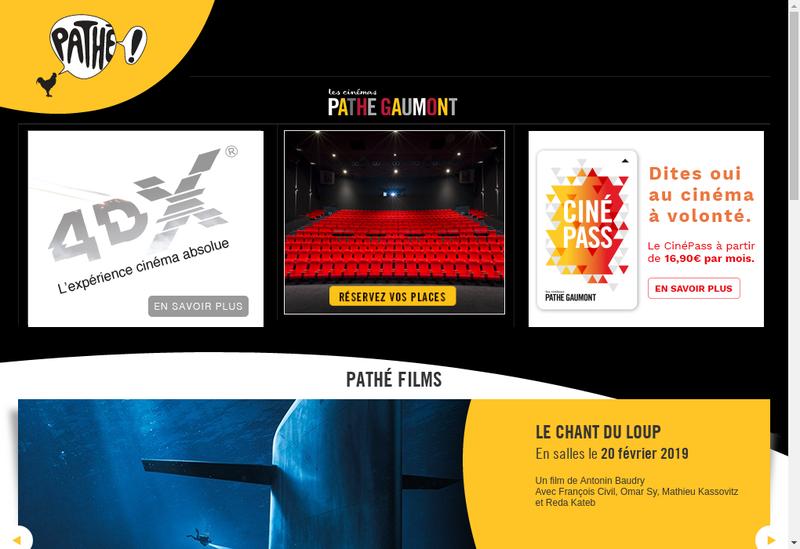 Capture d'écran du site de Pathe le Mans