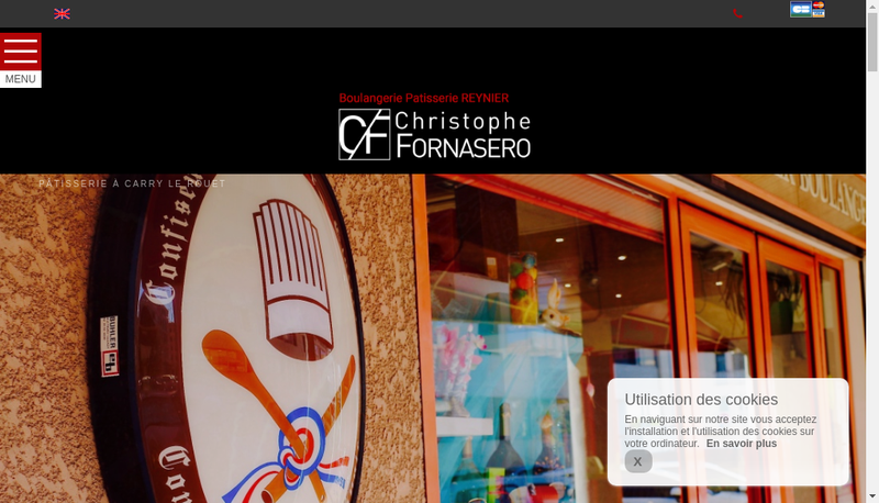 Capture d'écran du site de Patisserie Reynier