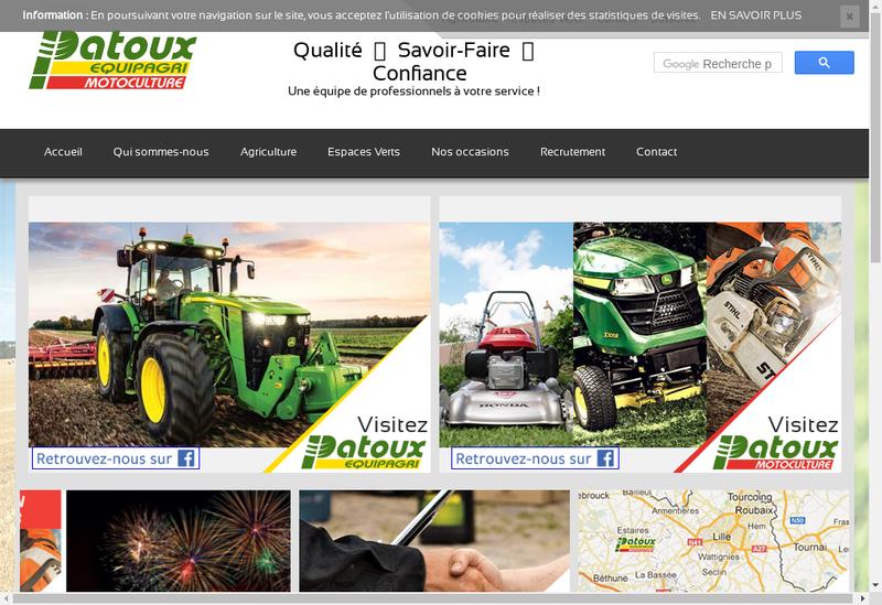 Capture d'écran du site de Patoux Motoculture