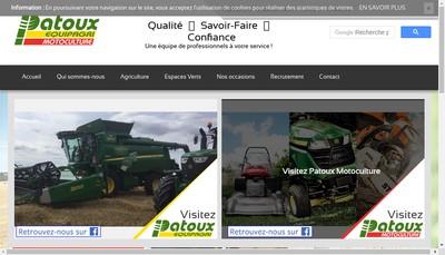 Site internet de Patoux Motoculture