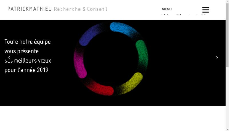 Capture d'écran du site de Patrickmathieu Recherche & Conseil
