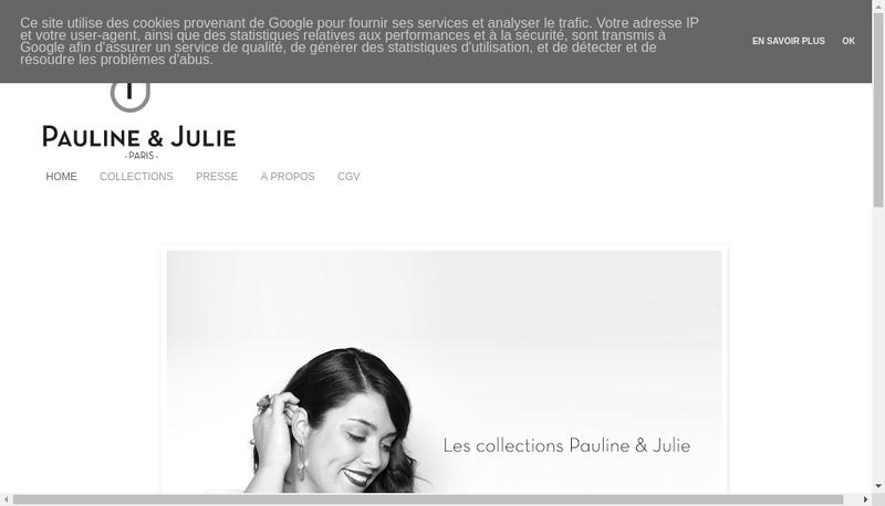 Capture d'écran du site de Pauline et Julie