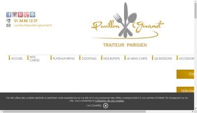 Site internet de Le Pavillon Gourmet