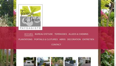 Capture d'écran du site de Terrasse et Jardin