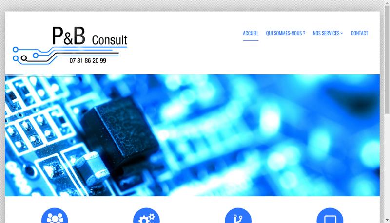 Capture d'écran du site de P&B Consult