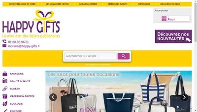 Site internet de Happy Gifts