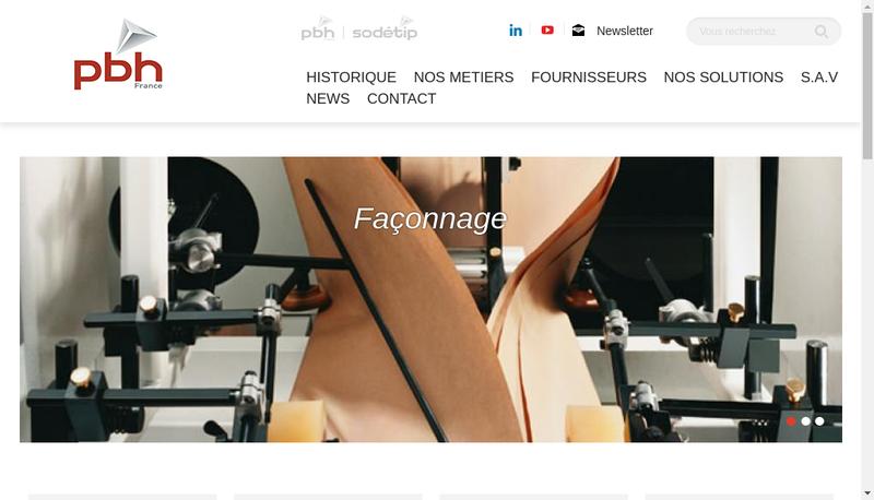 Capture d'écran du site de Pbh France