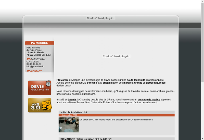 Capture d'écran du site de AP GROUPE SERVICES