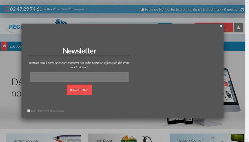 Capture d'écran du site de Philippe de Poret
