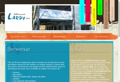 Site internet de Etablissements Lardy