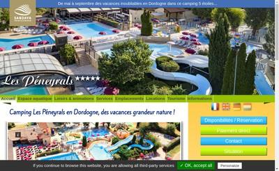 Site internet de Camping les Peneyrals