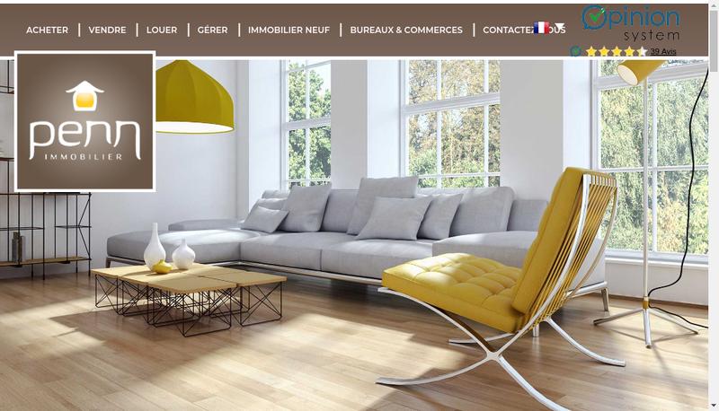 Capture d'écran du site de Penn Immobilier