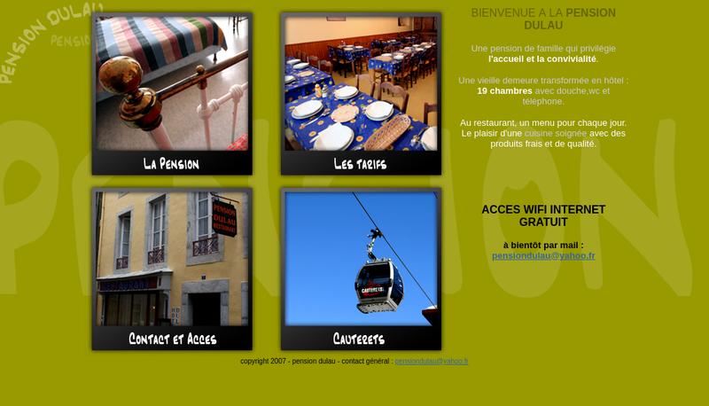 Capture d'écran du site de Pension Dulau