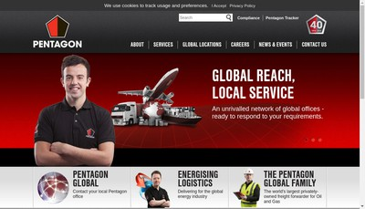 Site internet de Pentagon Freight Services