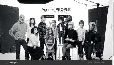 Capture d'écran du site de Agence People Coccinelle